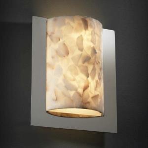 Alabaster Rocks! - Framed 2-Light Rectangle 3-Sided Wall Sconce (ADA)