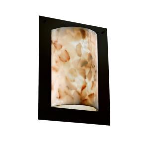 Alabaster Rocks! - Framed 2-Light Rectangle 4-Sided Wall Sconce (ADA)