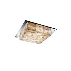 "Alabaster Rocks! - Framed 2-Light 12"" Square Wall and Ceiling Mount"