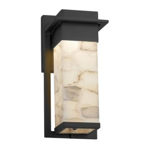 Alabaster Rocks Pacific - 12 Inch Small Outdoor Wall Sconce with Alabaster Resin Shade