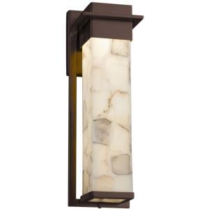 Alabaster Rocks! - Pacific LED Small Outdoor Wall Sconce