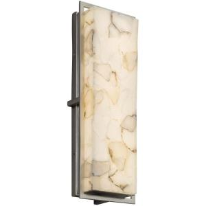 Alabaster Rocks Avalon - 18 Inch ADA Outdoor/Indoor Large Wall Sconce with Alabaster Resin Shade