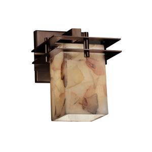 Alabaster Rocks! - Metropolis 1-Light Wall Sconce (2 Flat Bars)