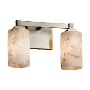 Alabaster Rocks - 13 Inch Two Light Bath Bar