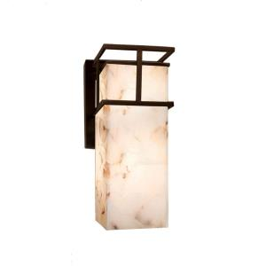 Alabaster Rocks! - Structure LED Large Outdoor Wall Sconce