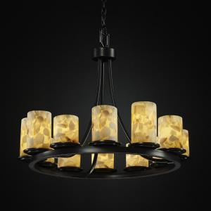 Alabaster Rocks! - Dakota 12-Light Ring Short Chandelier