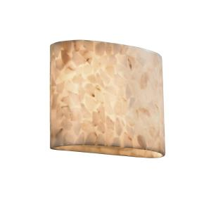 Alabaster Rocks! - 2-Light ADA Wide Oval No Metal Wall Sconce