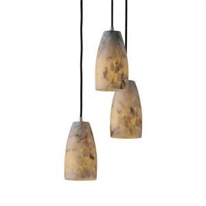 Alabaster Rocks! - Small 3-Light Cluster Pendant