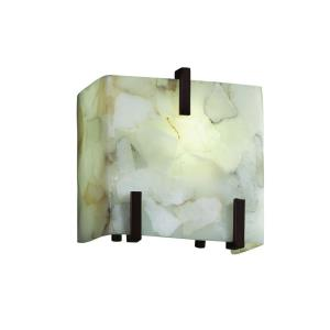 Alabaster Rocks - One Light Small Clips Wall Sconce