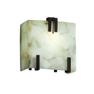 Alabaster Rocks - One Light Clips Wall Sconce