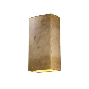 Ambiance - Really Big Rectangle with Perfs Open Top and Bottom Outdoor Wall Sconce