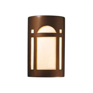 Ambiance - Large ADA Arch Window Open Top and Bottom Wall Sconce