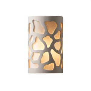 Ambiance - Large ADA Cobblestones Open Top and Bottom Wall Sconce