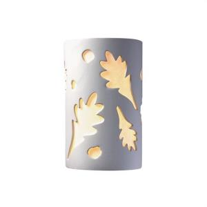 Ambiance - Large ADA Oak Leaves Open Top and Bottom Wall Sconce