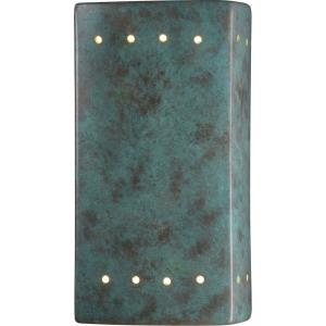 Ambiance - Small ADA Rectangle with Perfs Closed Top Wall Sconce