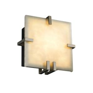 Clouds Clips - 8.5 Inch ADA Square Wall Sconce with Cloud Resin Shades