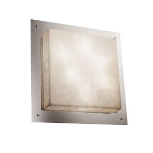 """Clouds - 24"""" Square Framed Flush-Mount / Wall Sconce"""