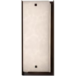 Clouds Carmel - 24 Inch ADA Outdoor Wall Sconce with Square Cloud Resin Shades