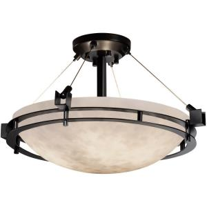 Clouds Metropolis - 22 Inch Semi-Flush Mount with Round Bowl Cloud Resin Shades