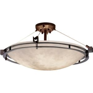 Clouds Metropolis - 28 Inch Semi-Flush Mount with Round Bowl Cloud Resin Shades