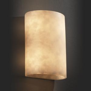 Clouds - 12.5 Inch ADA Large Cylinder Wall Sconce with Cloud Resin Shades