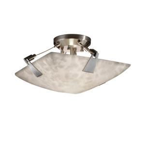 Clouds - Tapered Clips 2-Light 16 Inch Semi-Flush Bowl