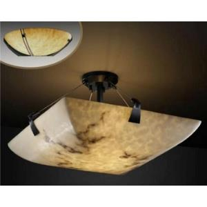 Clouds Tapered Clips - 21 Inch Bowl Semi-Flush Mount with Round Bowl Cloud Resin Shades