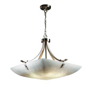 Clouds - Flat Bars with Finials 6-Light 30 Inch Pendant Bowl