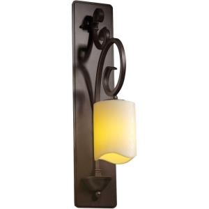 CandleAria Victoria - 1 Light Tall Wall Sconce with Cream Cylinder Melted Rim Faux Candle Shades