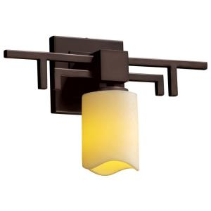 CandleAria Aero - 1 Light Wall Sconce with Cream Cylinder Melted Rim Faux Candle Shades