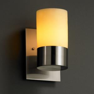 CandleAria Dakota - 1 Light Uplight Wall Sconce with Amber Cylinder Flat Rim Faux Candle Shades