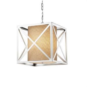 """Textile - Hexa 18"""" Cube Drum Pendant"""