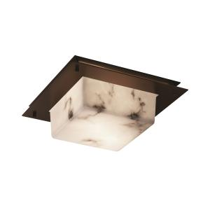 "LumenAria - 12"" Square Framed Flush-Mount/ Wall Sconce"