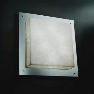 "LumenAria - 24"" Square Framed Flush-Mount/ Wall Sconce"