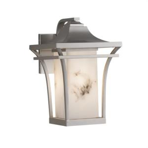 LumenAria Summit - 1 Light Large Outdoor Wall Sconce with Rectangle Faux Alabaster Shade