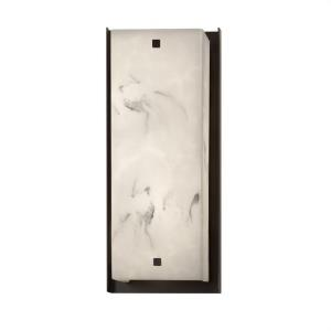 LumenAria Carmel - 24 Inch 15W 1 LED ADA Outdoor Wall Sconce with Square Faux Alabaster Shade