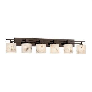 LumenAria Aero - 6 Light Bath Bar with Oval Faux Alabaster Shade
