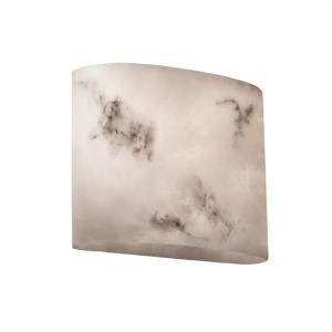 LumenAria - 2 Light ADA Wide Oval Wall Sconce with Faux Alabaster Shade