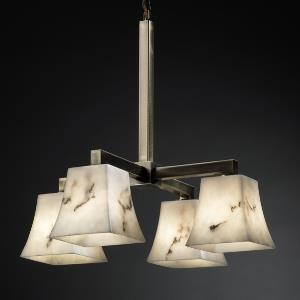 "LumenAria - 21"" Four Light Chandelier"