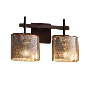 Fusion Union - 2 Light Bath Bar with Oval Mercury Glass Shade