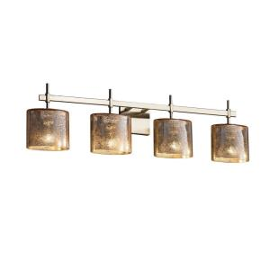 Fusion Union - 4 Light Bath Bar with Oval Mercury Glass Shade