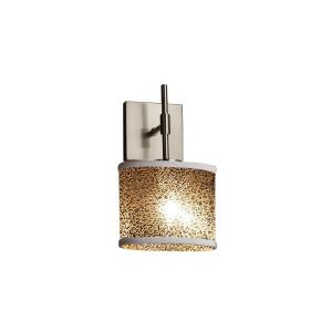 Fusion Union - 1 Light ADA Wall Sconce with Oval Mercury Glass Shade