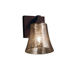 Fusion Regency - 1 Light Wall Sconce with Round Flared Mercury Glass Shade