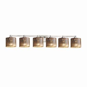 Fusion Regency - 6 Light Bath Bar with Oval Mercury Glass Shade
