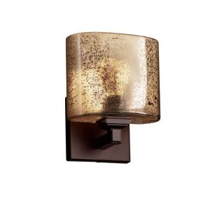 Fusion Regency - 1 Light ADA Wall Sconce with Oval Mercury Glass Shade