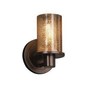 Fusion Rondo - 1 Light Wall Sconce with Cylinder/Flat Rim Mercury Glass Shade