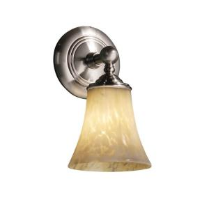 Fusion Tradition - 1 Light Wall Sconce with Round Flared Opal Glass Shade
