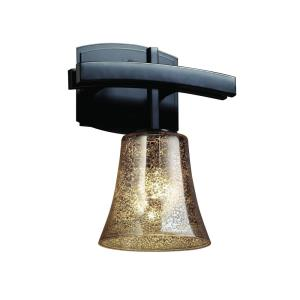 Fusion Archway - 1 Light Wall Sconce with Round Flared Mercury Glass Shade