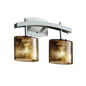 Fusion Archway - 2 Light Bath Bar with Oval Mercury Glass Shade