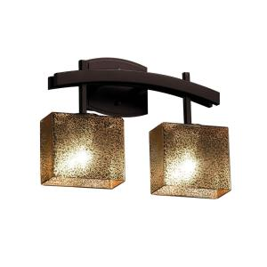 Fusion Archway - 2 Light Bath Bar with Rectangle Mercury Glass Shade